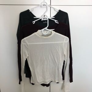 Aritzia TNA 3 pack long sleeve bundle